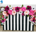 Custom giant color rose and hydrangea wedding decoration artificial flowers wall for backdrop decoration