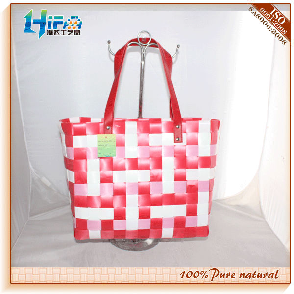 Shopper Fat PP Strap With PU Handle