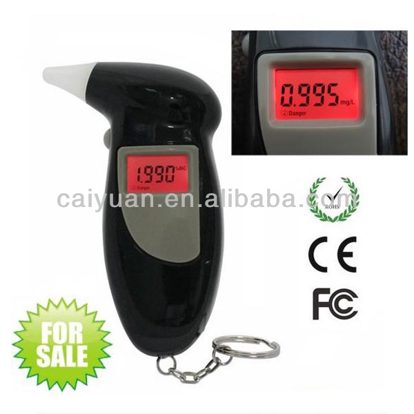 Professional keychain vending breathalyzer digital breath alcohol tester with red backlight