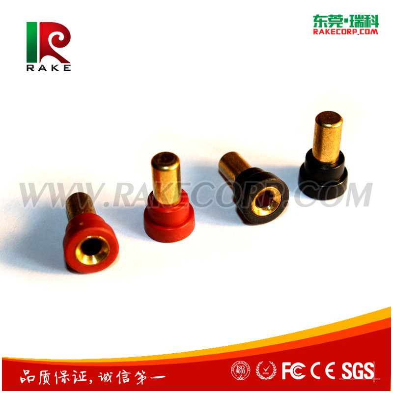 Gold Plated Copper Cylinder Banana Plug Connector Series With Silicone Housing