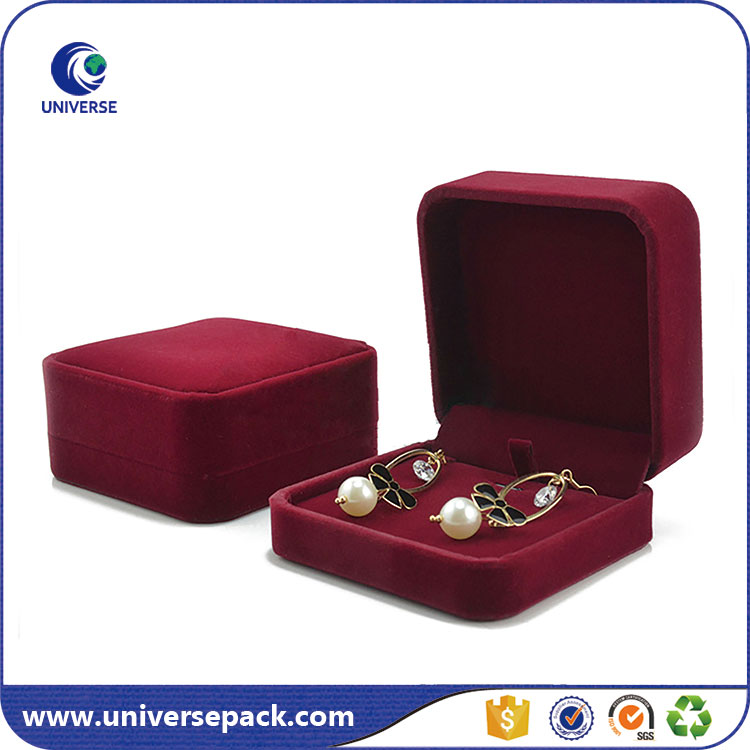 Professional OEM Wholesale velvet earring box