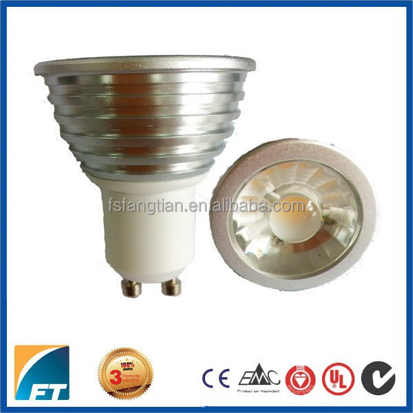 AC 85-265V 6w GU10 4000k COB LED Spotlight
