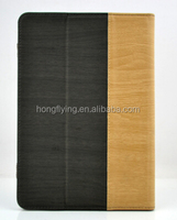 Soft PU case for ipad wood pattern for EU standard quality