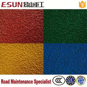 asphalt color hot melt coating landscaping colored crushed stone