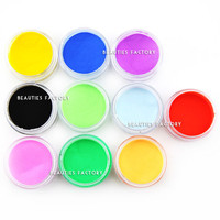 Beauties Factory 10 Color Acrylic Powder (10 gram each)