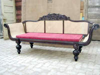 Dewan Sofa made of Wood & Cane