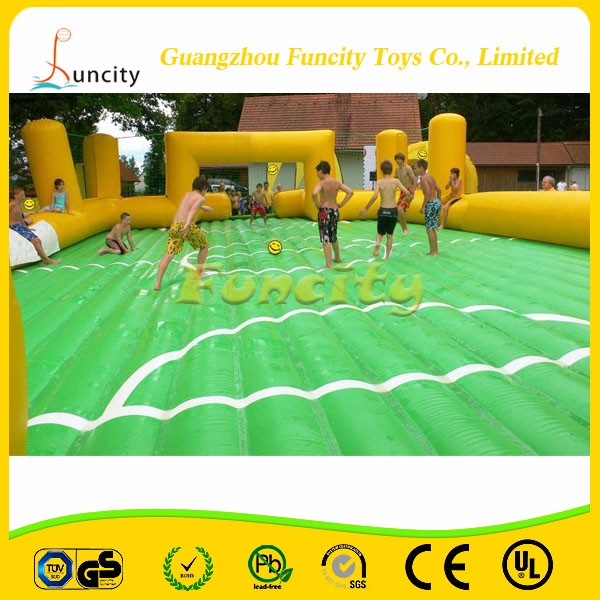 High Quality 0.55MM PVC Tarpaulin Inflatable football field/Soccer Football Field For Sale