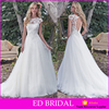 Wholesale Price Tulle Farbic Appliques Bodice Open Back Cheap Wedding Dresses Made In China