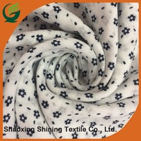 wholesale new style woven voile custom combed printed rayon fabric