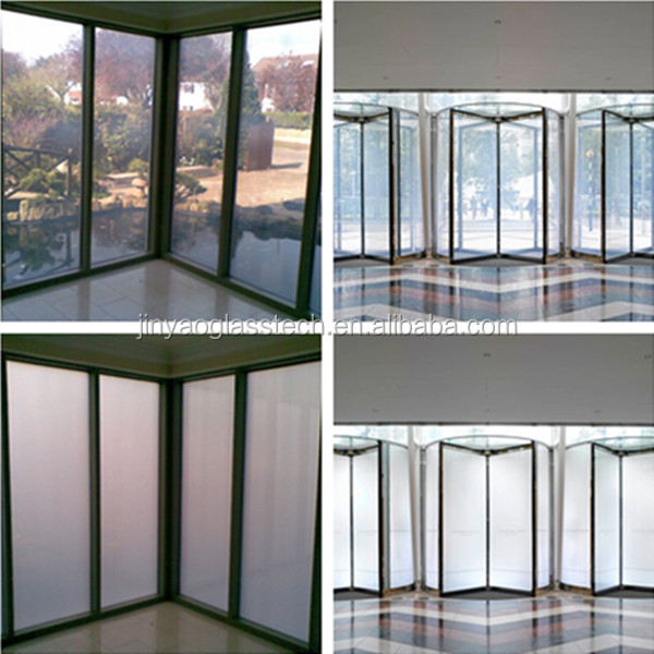 Jinyao CE Rohs alibaba trade assurance high-tech clear to frosted switchable smart glass panel