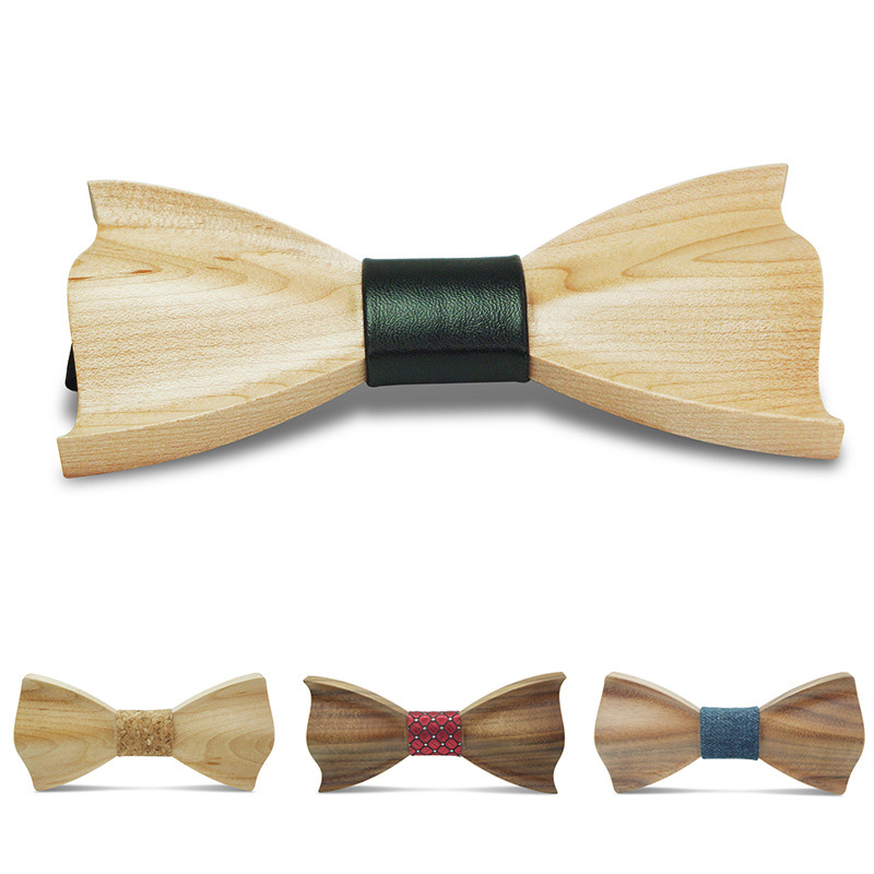 Novelty Fashion Bow Ties for Men Best Quality Classic Wood Bowtie 3D Handmade Butterfly Wood Bow Tie Gravata Silm