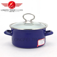 18-26cm Hot sale glass lid Enamel Turkish Pot