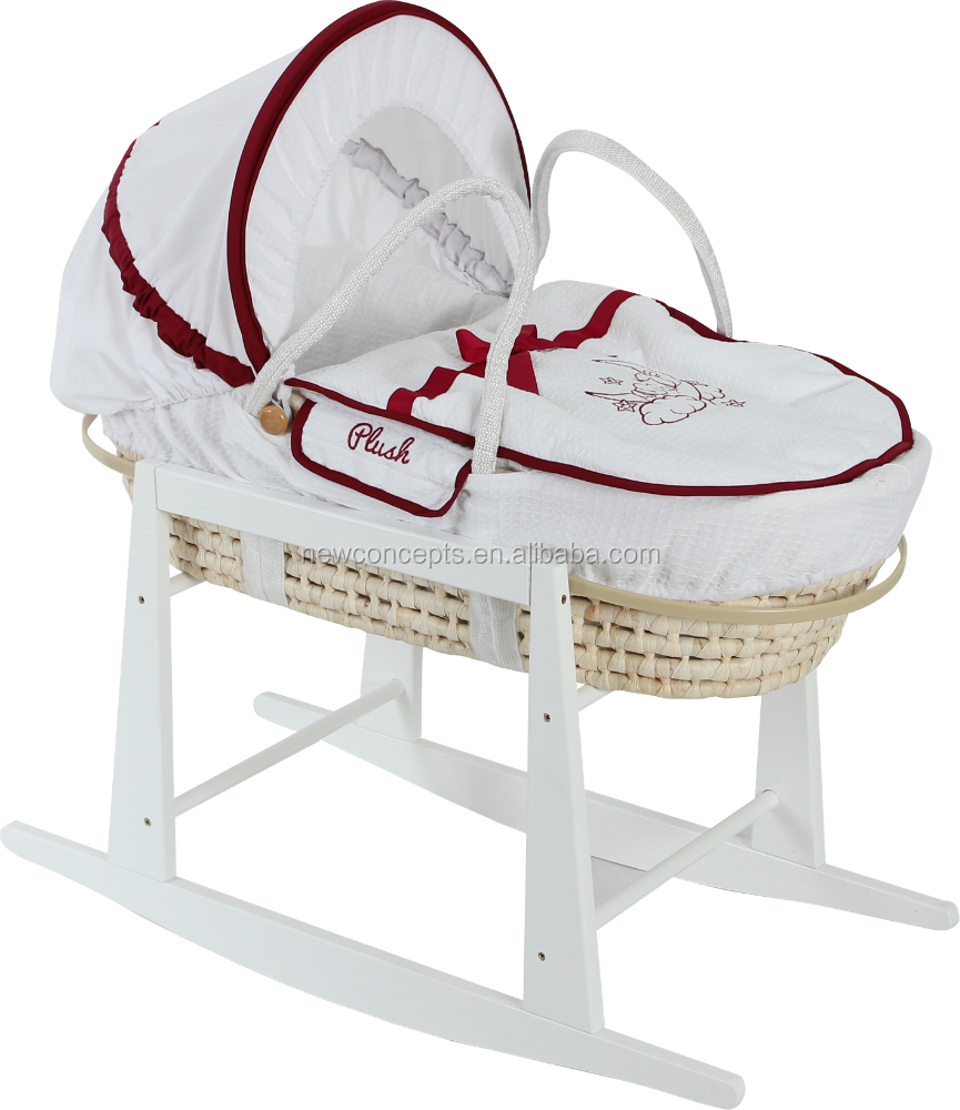 2015 high quality handmade corn husk moses basket ,baby cradle