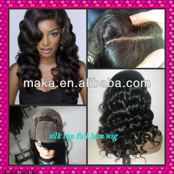 4*4 SIlk top FULL lace wig&Front lace wig with baby hair around Natural skin color nautral hair