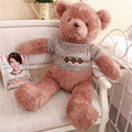 Customize promotional gift soft stuffed plush teddy bear toy with woollen sweater