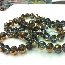 crystal glass crafts half gold plating