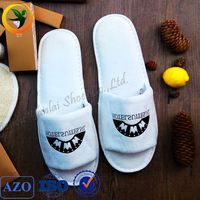 wholesale white high quality cheap hotel shower slippers