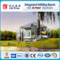 Prefabricated residential transportable steel houses prefab home light steel villa