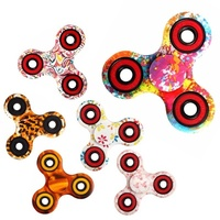2018 Cheap Price Sliver Crazy Spinner Toy Marble Fidget Spinner Bearing Handle Vision 3 Wind Spinners For Garden