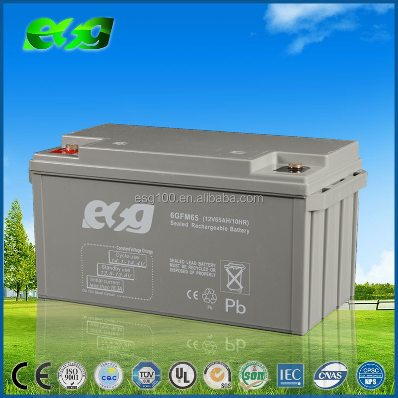 Original Storage Batteries Lead Acid Battery 12v 65Ah Solar Battery 65Ah