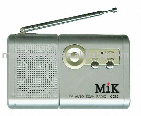 K-232 good quality mik band good signal mini radio
