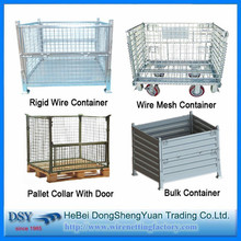 Storage Wire Mesh Cage/metal turnover storage box/High Quality Snap Folding Storage Box