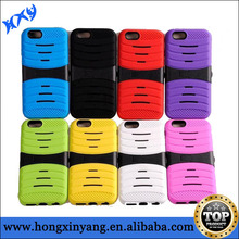 2 Layers Hybrid Heavy Duty Rubber Combo Robot Stand Case for iphone 6