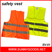 100% polyester 120g fabric yellow color reflective safety vests wholesale