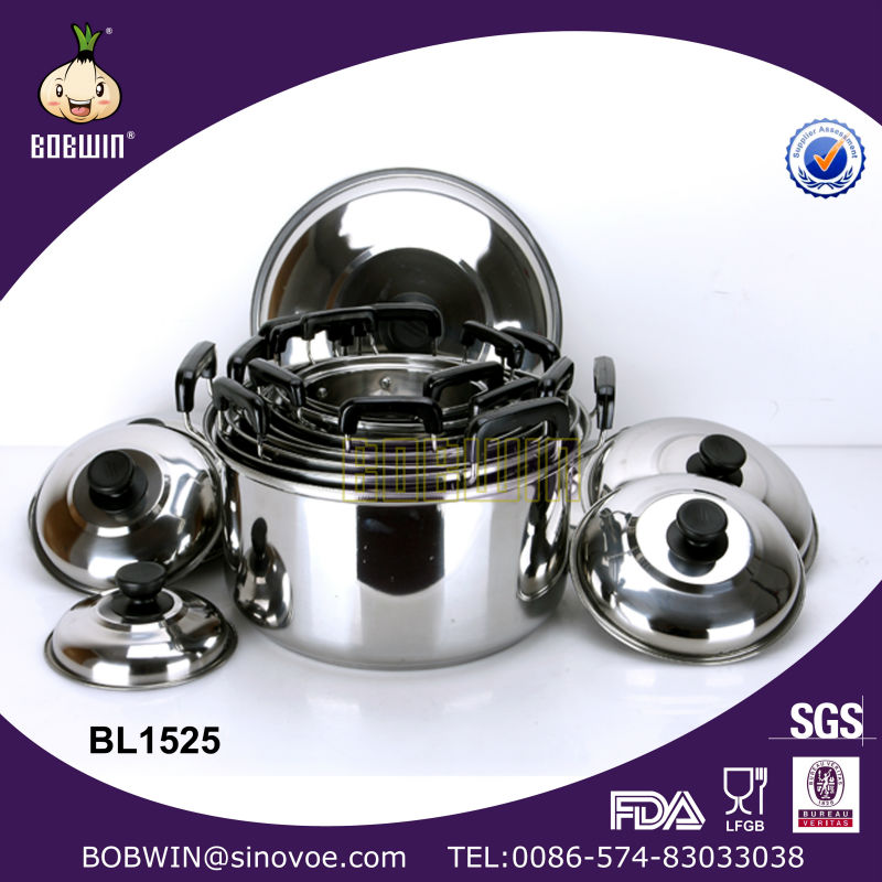 8 pcs stainless steel cookware set stainless hot pot
