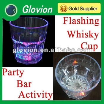 Hot Sale LED whisky cup Flashing drinking cup Glowing light up cups