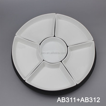 Round ceramic Divide Plate/Tray/Service Plate/Food Plate
