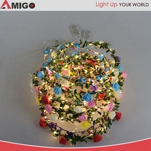christmas foil garlands LED light up wedding flower garlands