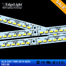 shang hai Edgelight 12v 98 led lamps 6 width 583 long rigid led light strip