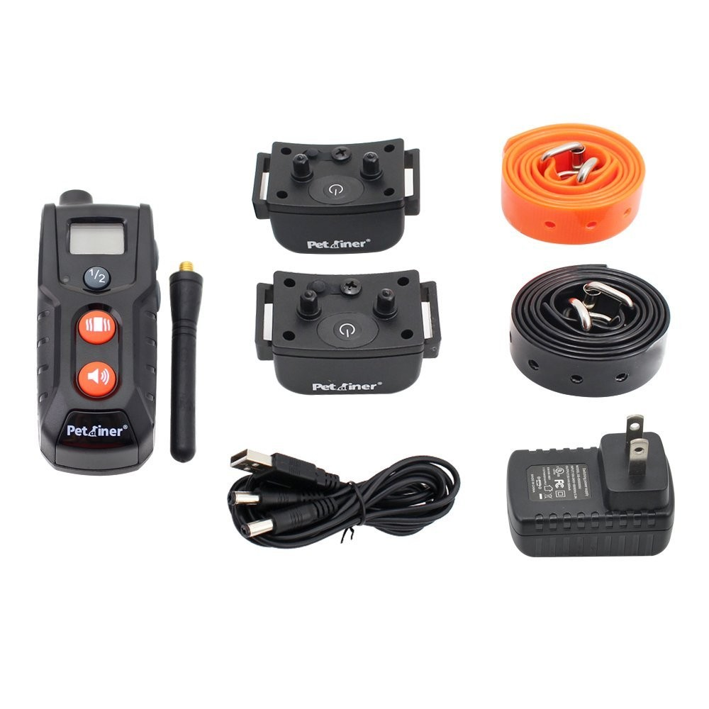 300m remote range 100 levels of vibration static rechargeable waterproof dog training collar