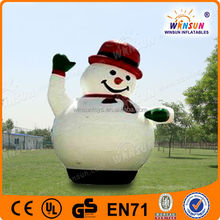 Cheap outdoor decoration led inflatable christmas snowman