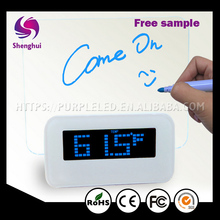 ShengHui New Fashion Digital Alarm Clock LED Light Fluorescent Message Board Alarm electron gift LED message Clock
