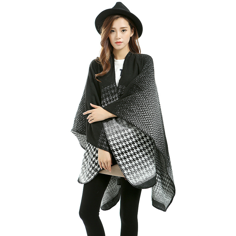 Fashion new style leapord pattern scarf poncho RS314