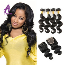 New Arrival Remy Human Hair 100% Unprocessed Virgin Indian hair XUCHANG ALIMICE hair Products Indian Body Wave Indian Virgin Hai