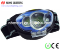 NEW ARRIVAL factory wholesales in ningbo zhejiang Dry battery led 3LED Head Torch