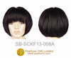 Best Quality Bob Short Cut Style Natural Black Blunt Bangs Wig