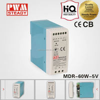 New & Original MDR-60W 5V single output DIN Rail power 60w led driver with ce