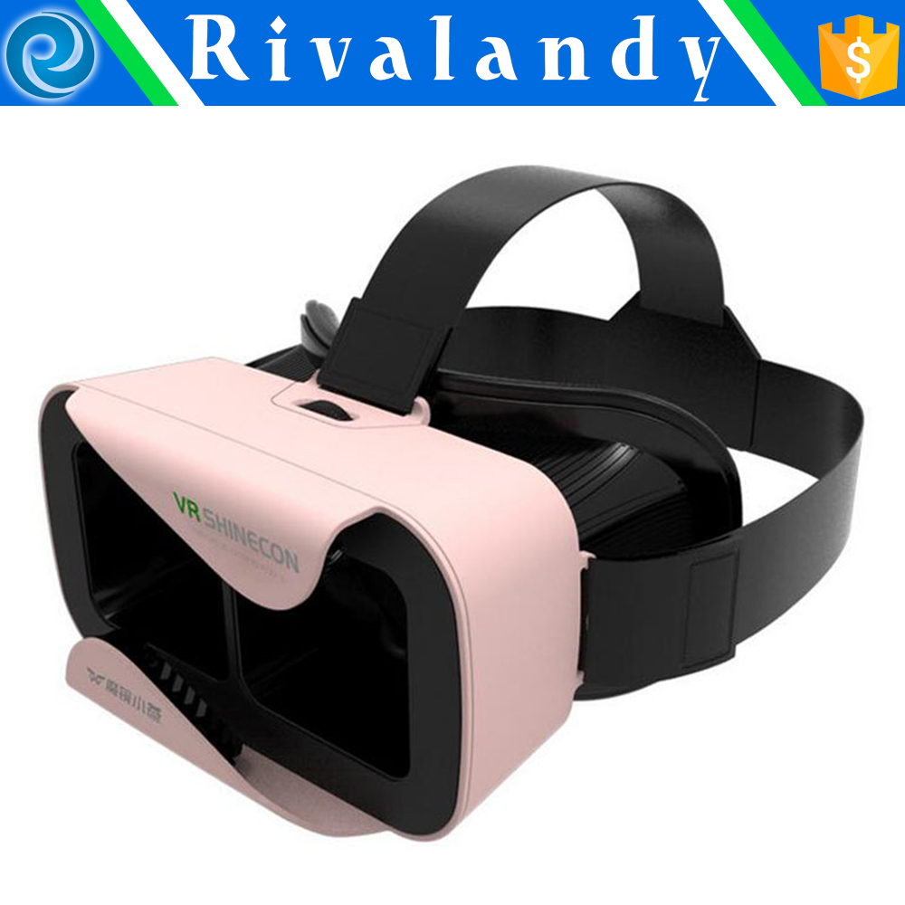 New design vr shinecon vr 3d glasses, customized vr headset for pc games/movies