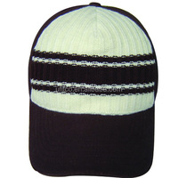 KNIT FRONT 5 PANEL CANVAS BACK BLANK SPORT CAP