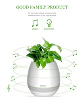 christmas gift by touch Plant leaf leaves Bluetooth Music Led Light Flower plant Pot