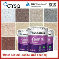 Water based granite textured stone effect paint
