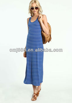 Racerback Striped Maxi dress