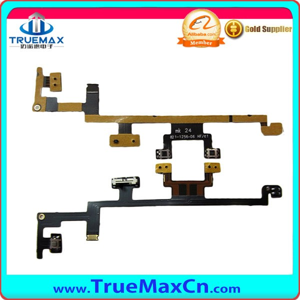 New arrival spare parts for iPad 3 power flex, volume flex cable