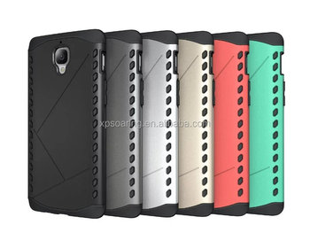 Hybrid 2 in 1 hard shell case cover for One Plus Three, Shockproof cover for one Plus Three
