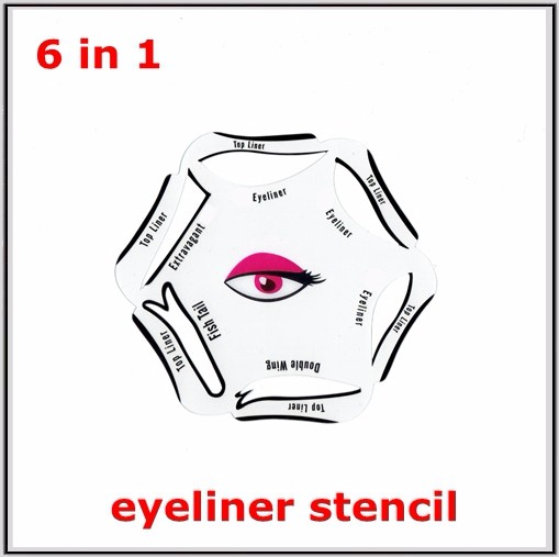 how to make an eyeliner stencil