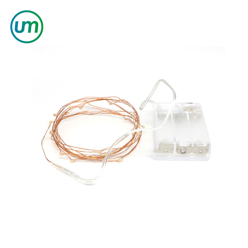 2m 3m 5m 10m Battery Operated Silver & Copper Wire String Christmas Battery Powered Mico Led Fairy Light